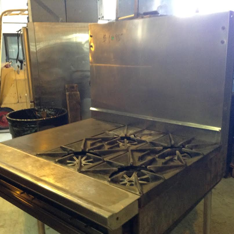 4 burner and griddle 27×12