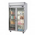 beverage-air-hrp2-1g-led-2-section-glass-door-reach-in-refrigerator-with-led-lighting-49-cu-ft-ss-exterior
