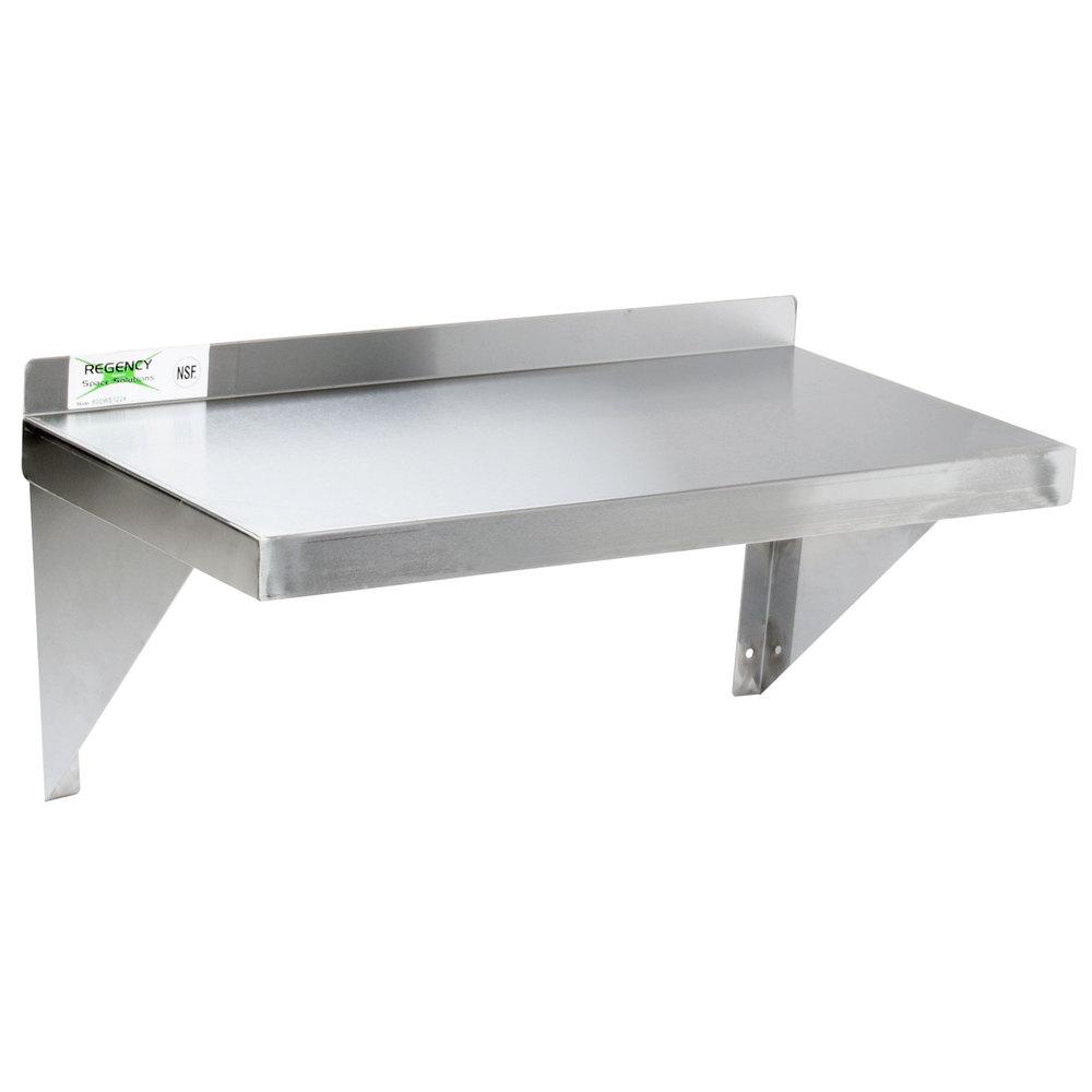 regency 18 gauge stainless steel 12 x 24 solid wall shelf la semi rh laseminueva com Stainless Steel Kitchen Wall Shelves Stainless Steel Kitchen Shelves